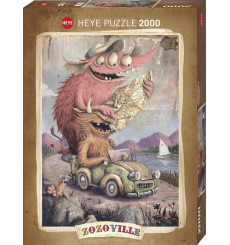 Puzzle Heye - Zozoville Road Trippin 2000 pièces