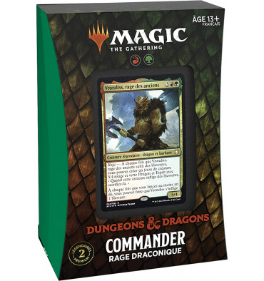 Magic The Gathering: Dungeons & Dragons - Commander Rage Draconique