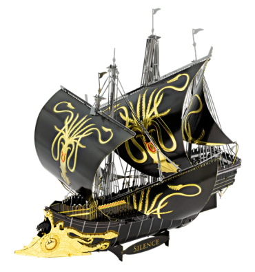 Metal Earth ICONX - Game of Throne - Greyjoy Ship Silence (Bâteau Silence)