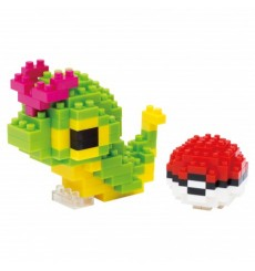 Nanoblock NBPM-010 Pokemon Caterpie & Pokeball Chenipan